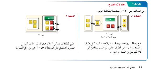 معادلات الطرح