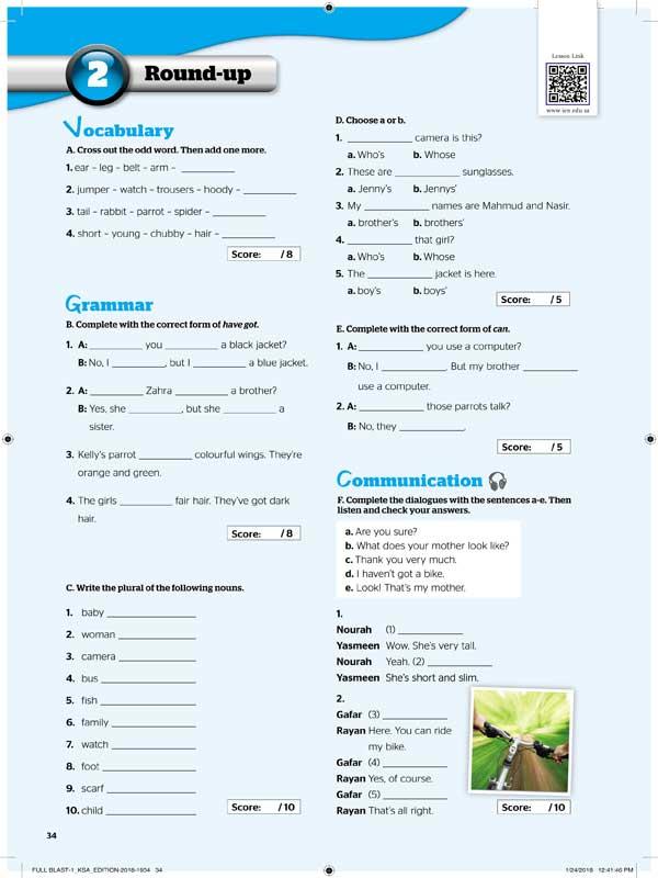 2round-up Vocabulary&Grammar&Communication