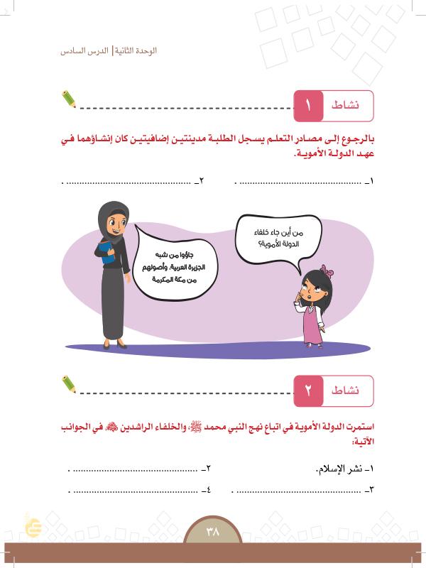 الدرس السادس: االدولة الاموية