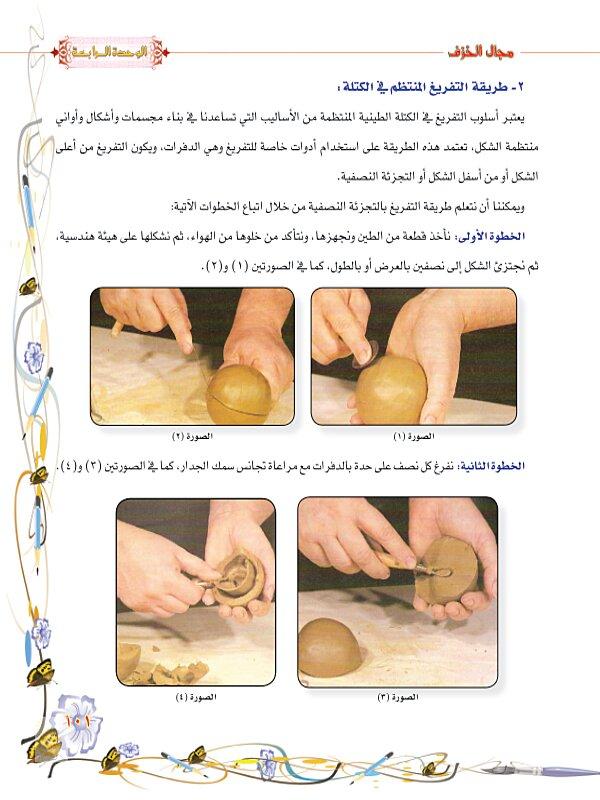 الدرس الاول : تشكيل آنية خزفية منتظمة الشكل