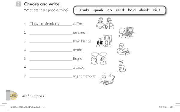 2. Choose and write