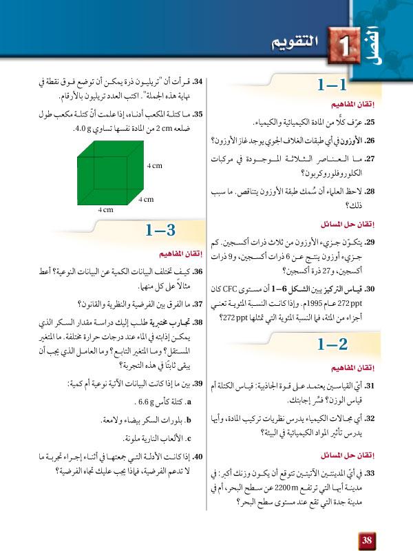 تقويم الفصل1