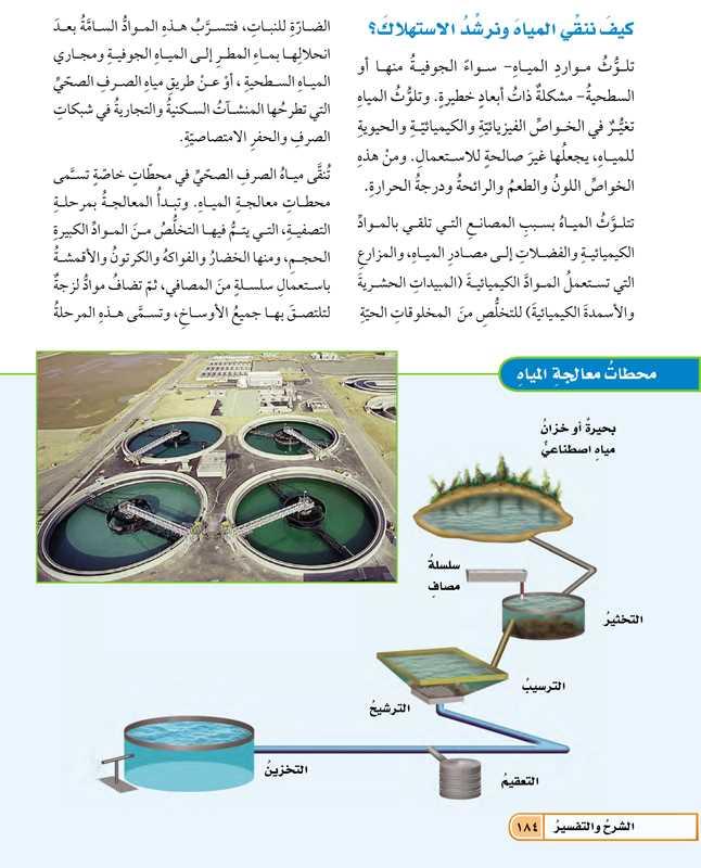 كيف ننقي المياه ونرشد الإستهلاك