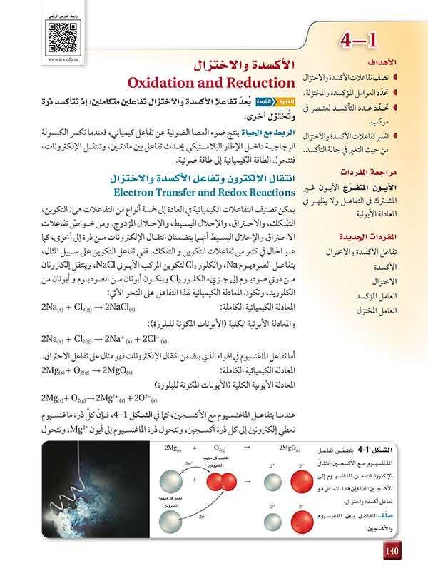انتقال الإلكترون وتفاعل الأكسدة والاختزال