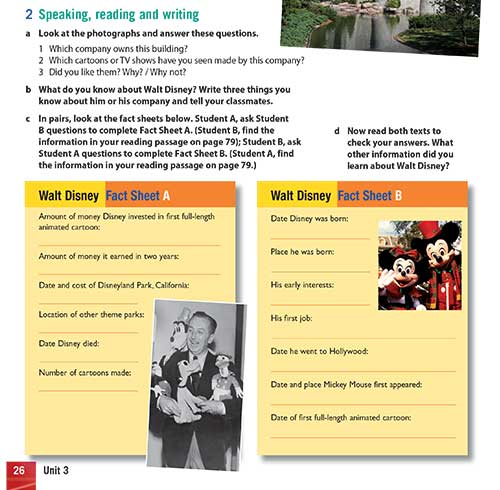 Speaking, reading and writing
