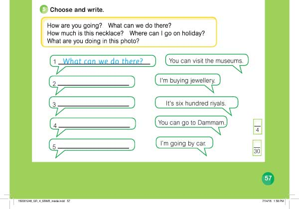 Choose and write