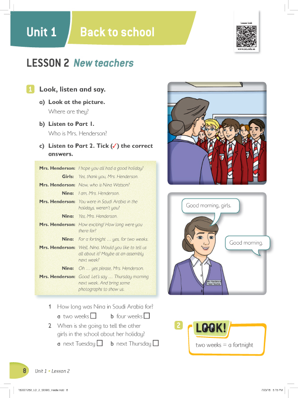Lesson 2 ( 1 , 2 )
