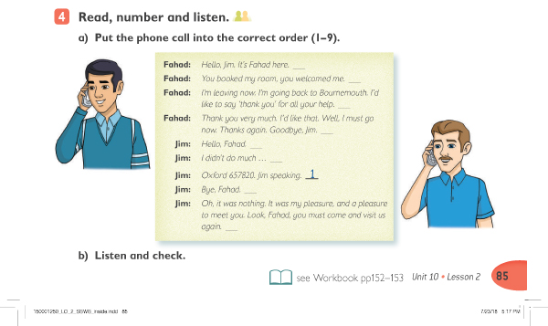 Read , number and listen