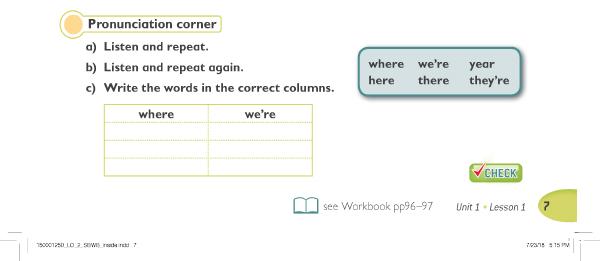 Pronunciation corner