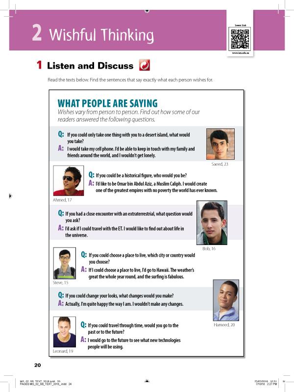 Listen and Discuss