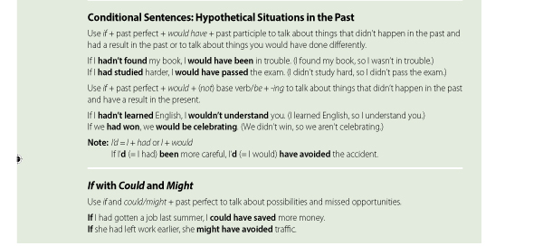 Conditional Sentences: Hypothetical Situations in the Past