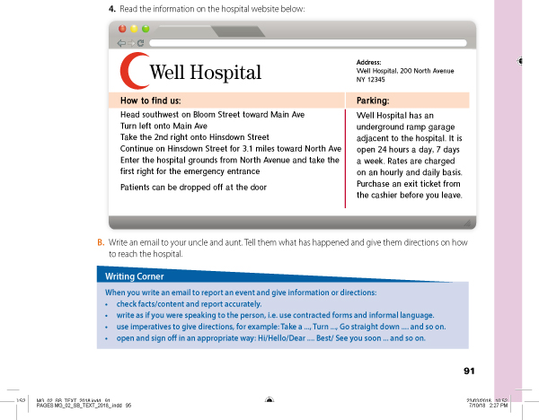 Read the information on the hospital website below