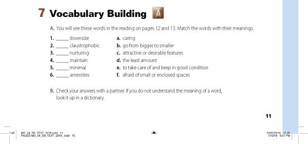 Vocabulary Building