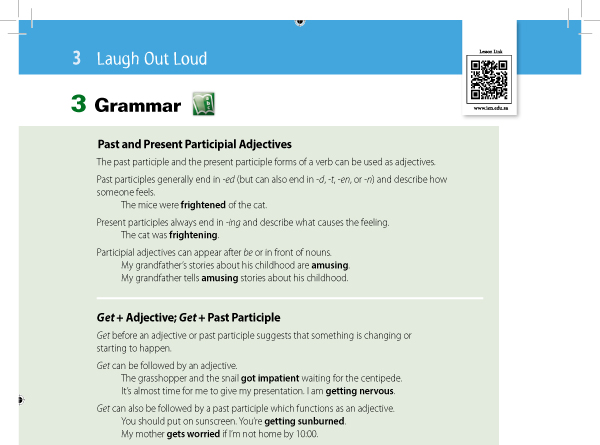 Past and Present Participial Adjectives