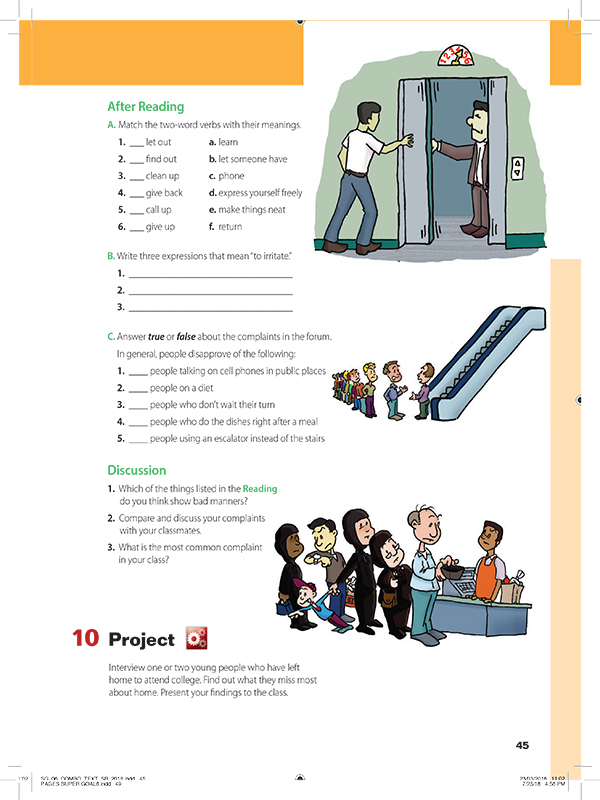 after reading AND discussion AND project-10