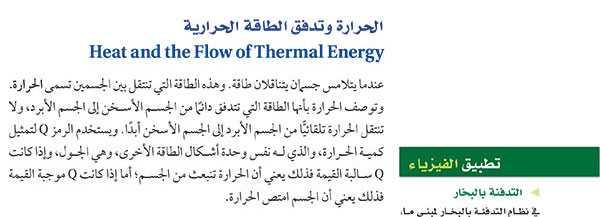 الحرارة وتدفق الطاقة الحرارية