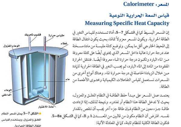 المسعر: قياس السعة الحرارية النوعية