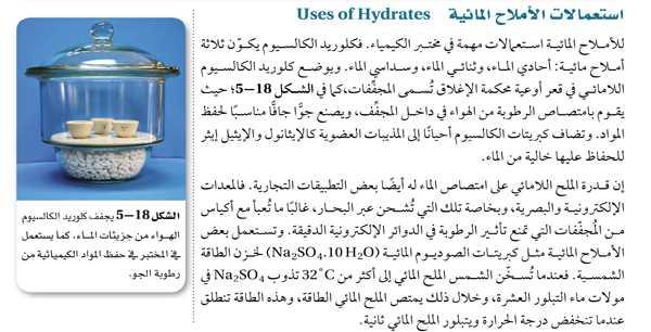 استعمالات الأملاح المائية