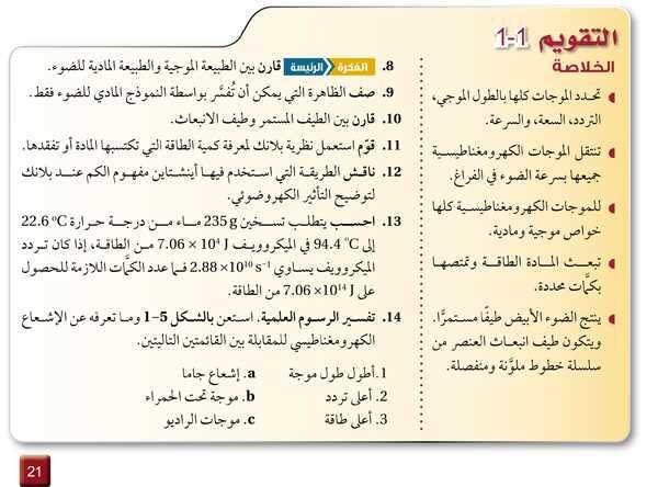 التقويم 1-1