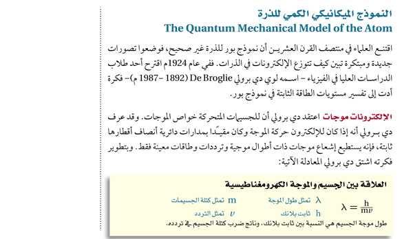 النموذج الميكانيكي الكمي للذرة