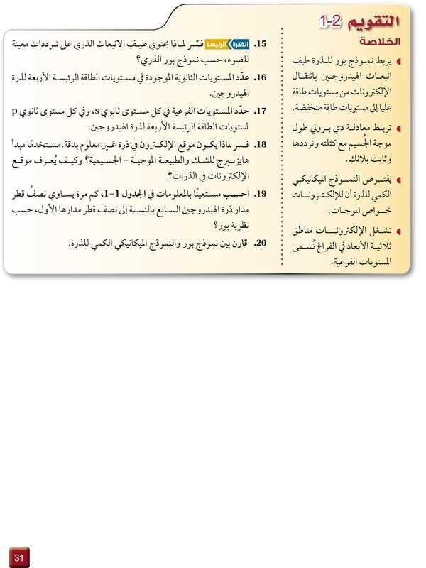 التقويم 2-1