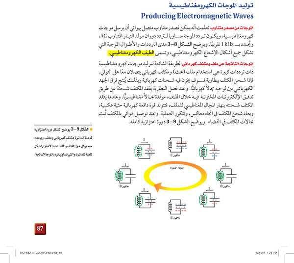 توليد الموجات الكهرومغناطيسية