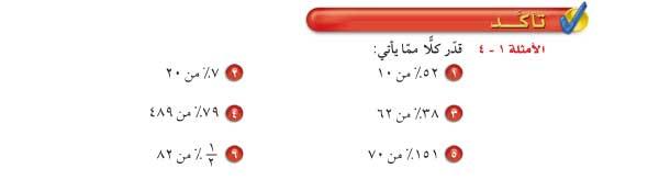 تأكد الأمثلة1-4