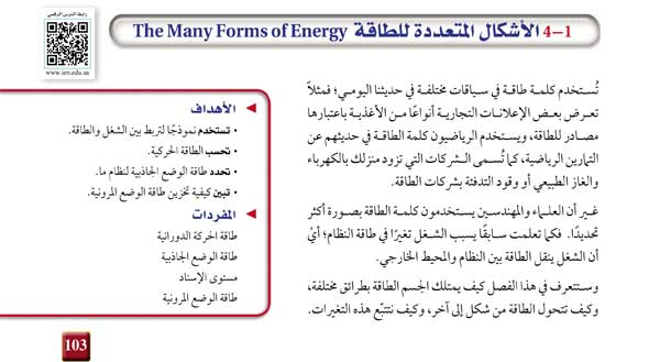 1-4 الأشكال المتعددة للطاقة